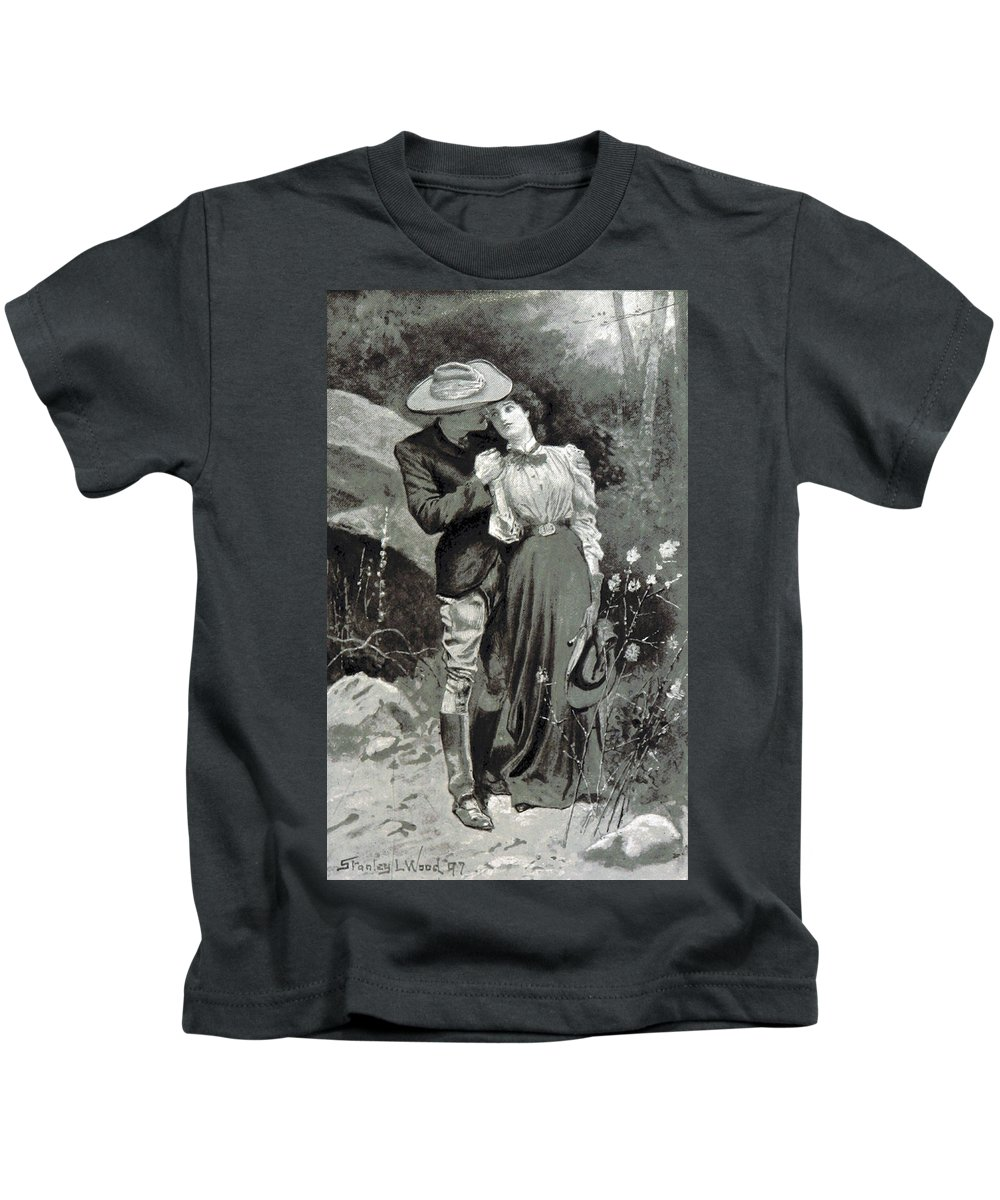 Holiday Kids T-Shirt featuring the photograph Valentines Day, 1898 by British Library