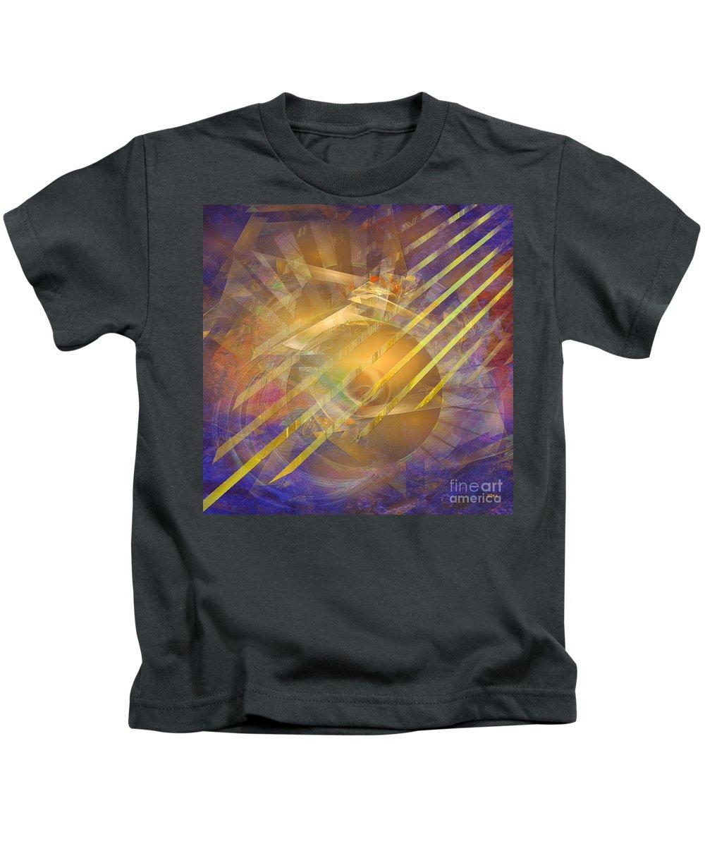 Venetian Gold Kids T-Shirt featuring the digital art Venetian Gold - Square Version by John Robert Beck