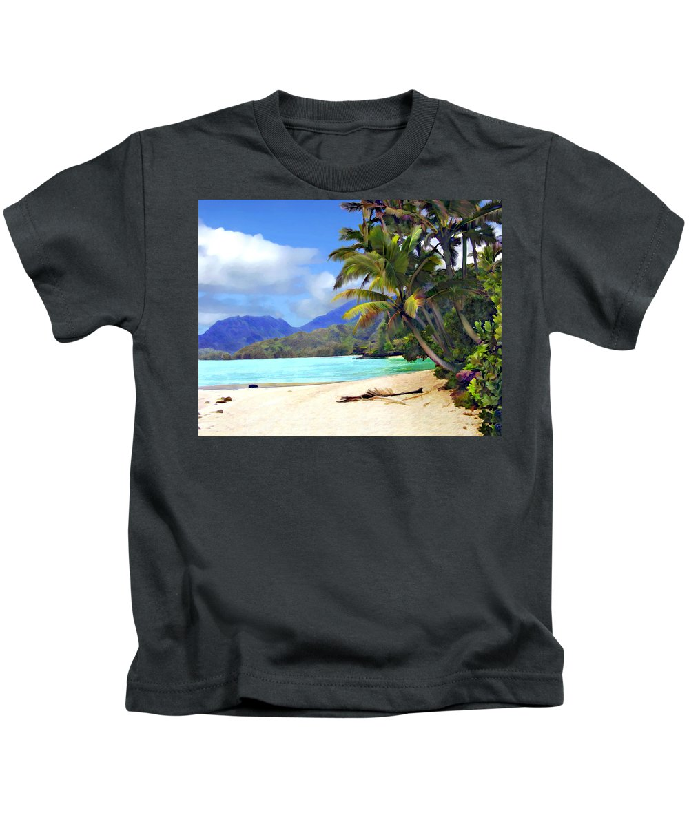 Hawaii Kids T-Shirt featuring the photograph View From Waicocos by Kurt Van Wagner