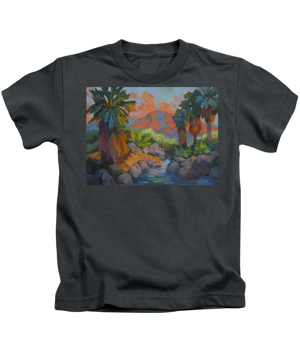 Desert Kids T-Shirt featuring the painting Warm Summer Afternoon 2 by Diane McClary