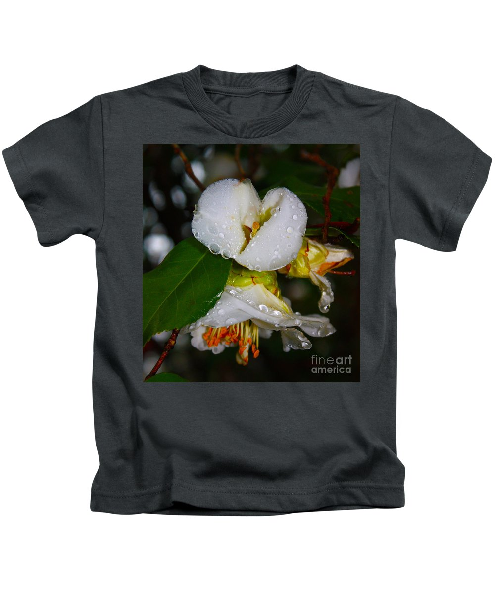Water Drops Galore Kids T-Shirt featuring the photograph Water Drops Galore by Christine Dekkers