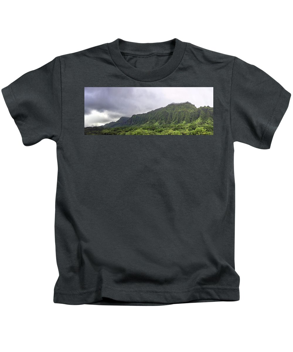 Hawaii Kids T-Shirt featuring the photograph Waterfall Heaven by Dan McManus