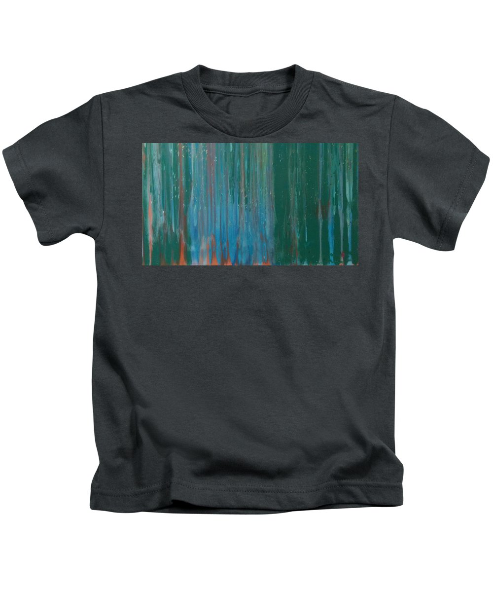 Acrylic Kids T-Shirt featuring the painting Waterfalls by Roy Hummel