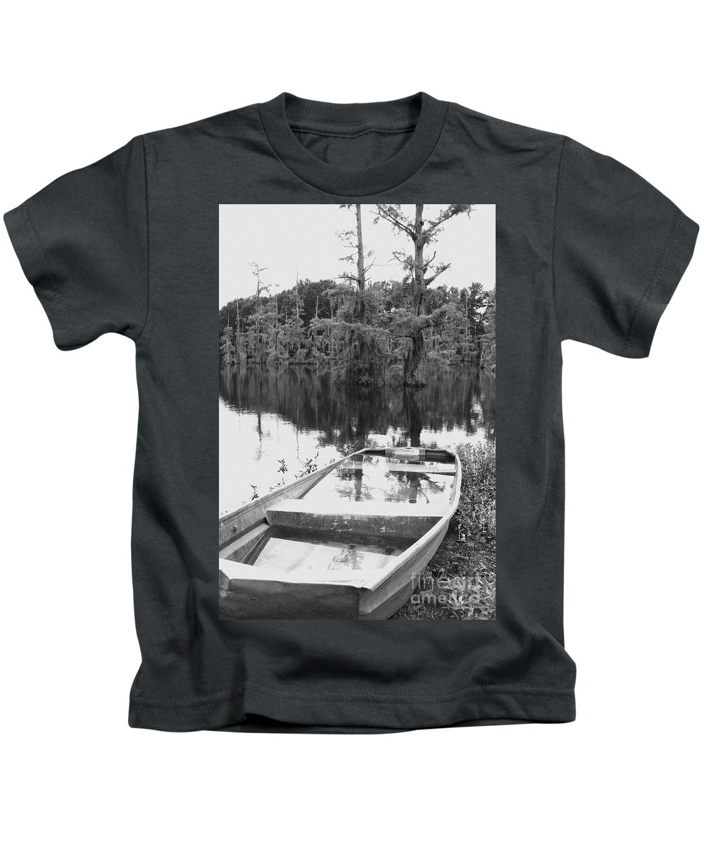 Boat Kids T-Shirt featuring the photograph Waterlogged by Scott Pellegrin