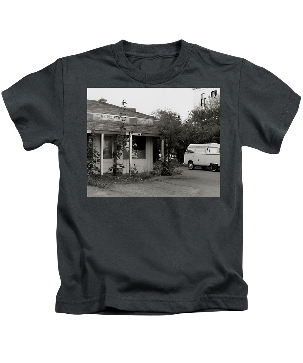 Delivery Kids T-Shirt featuring the photograph We Deliver by Tanya Hamell