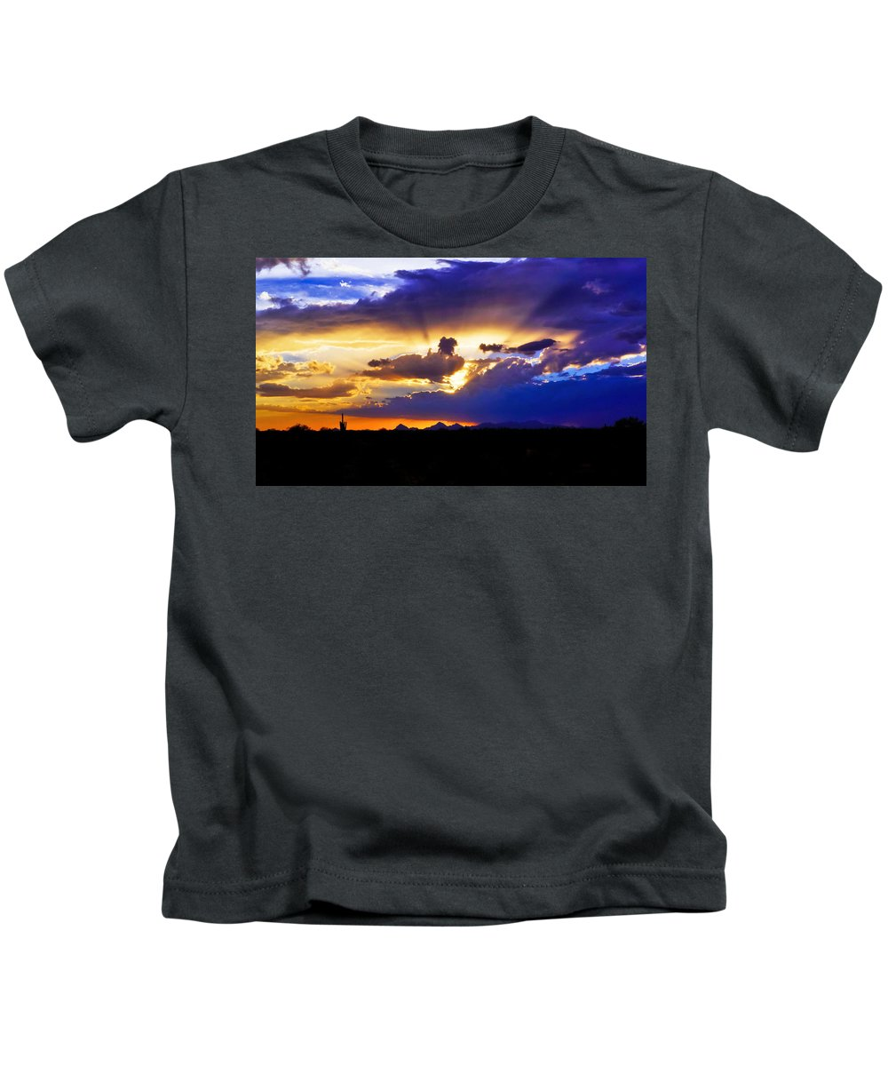 Sunset Kids T-Shirt featuring the photograph Wedge Of Light by Patrick Moore