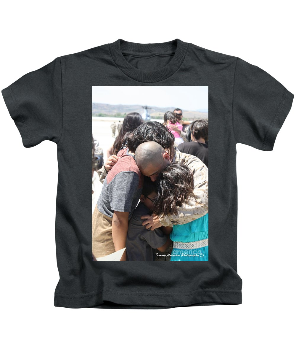Usmc Kids T-Shirt featuring the photograph Welcome Home 3 by Tommy Anderson