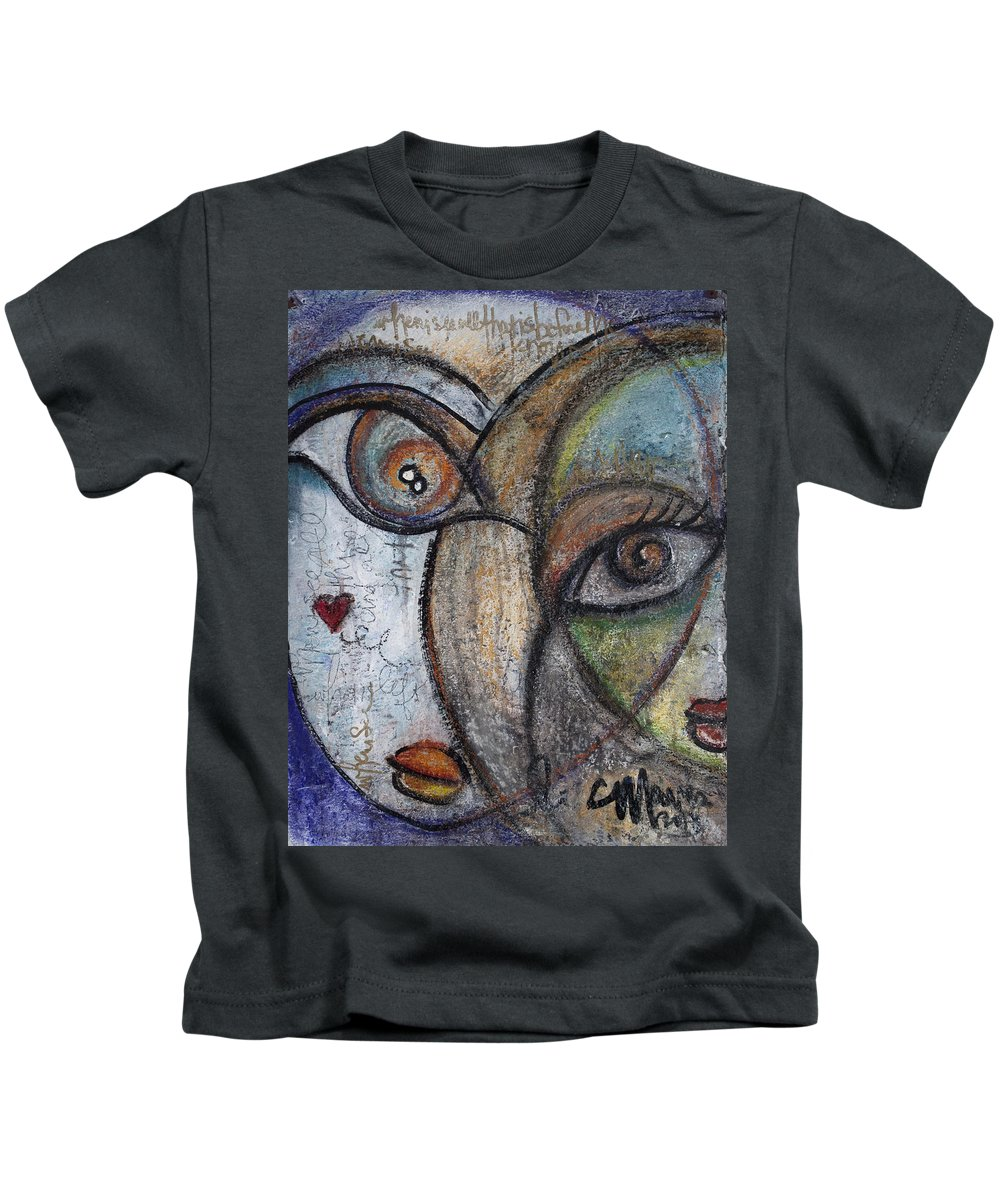Love Kids T-Shirt featuring the painting When I See All That Is Before Me by Laurie Maves ART