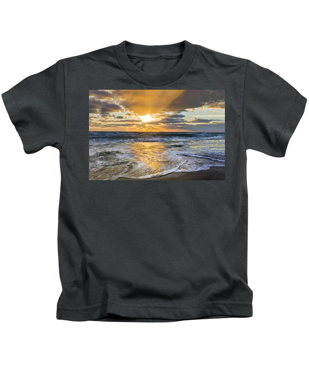 Clouds Kids T-Shirt featuring the photograph Whipped Cream by Debra and Dave Vanderlaan