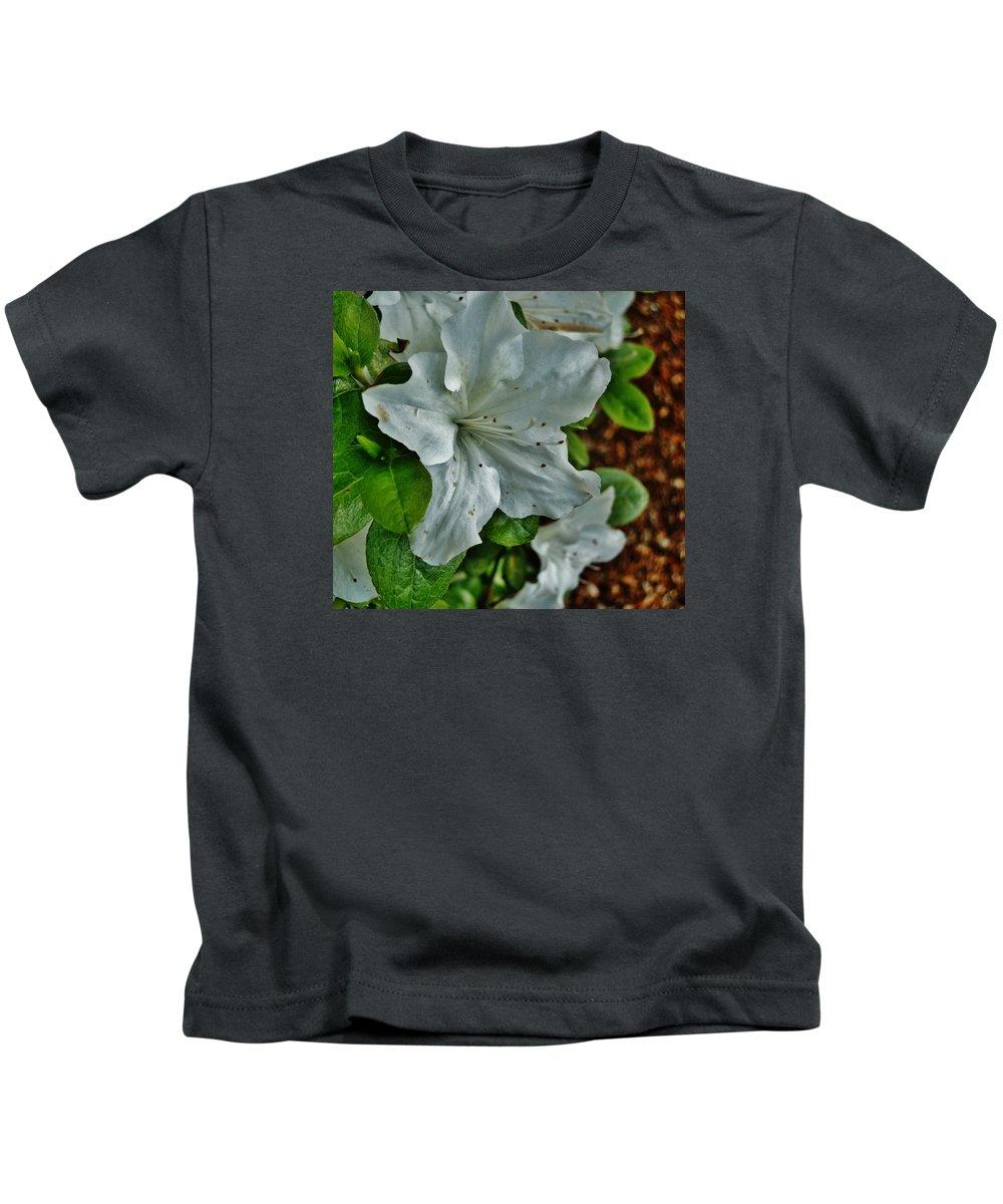 Flower Kids T-Shirt featuring the photograph White Azalea by VLee Watson