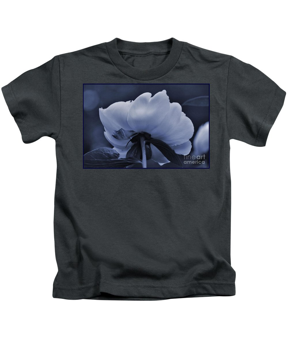 White Peon Kids T-Shirt featuring the photograph White Peon by Luv Photography