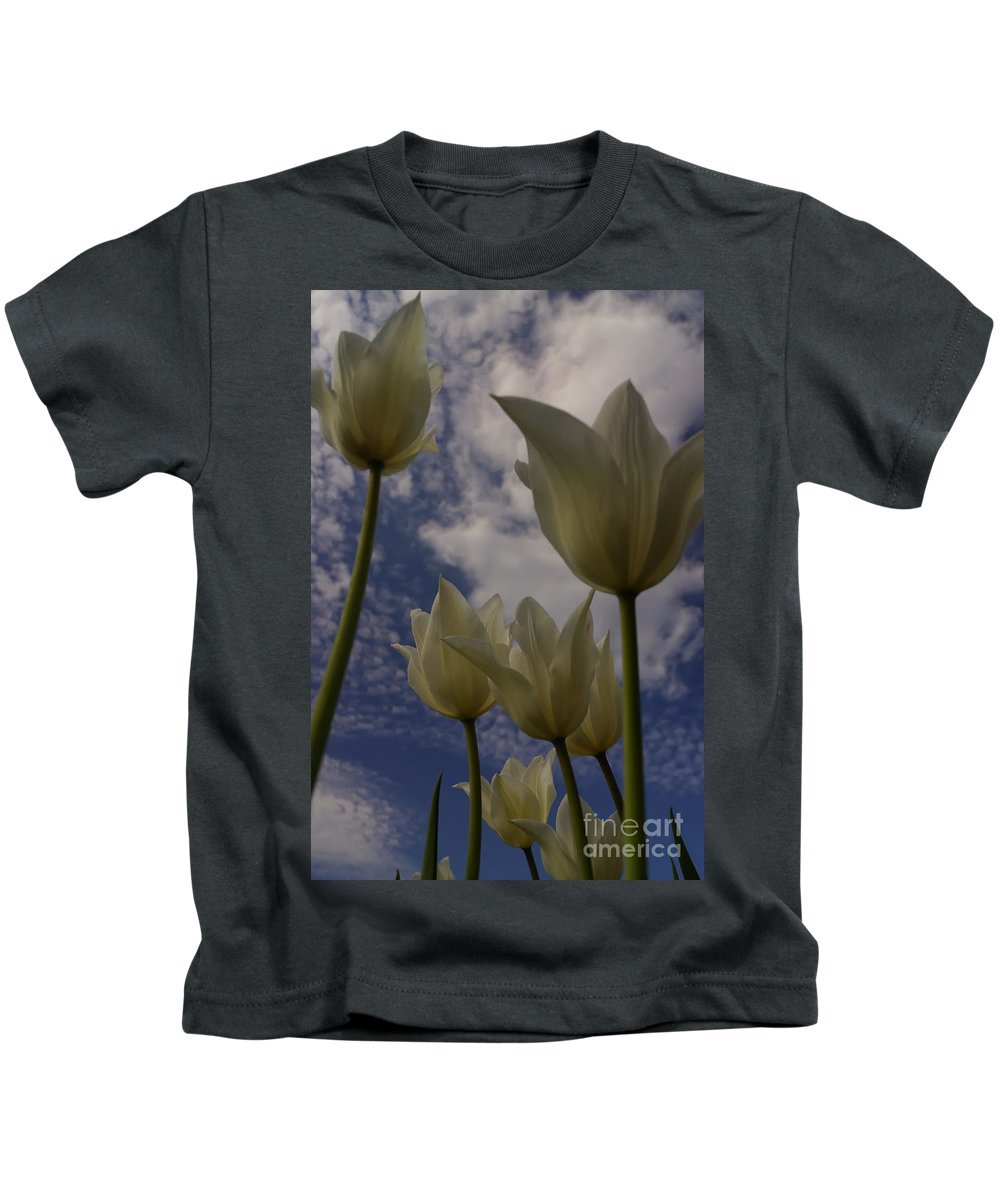 Flowers Kids T-Shirt featuring the photograph White Tulips by Jeffery L Bowers
