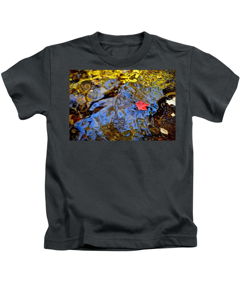 Wiggle Kids T-Shirt featuring the photograph Wiggling Water by Frozen in Time Fine Art Photography