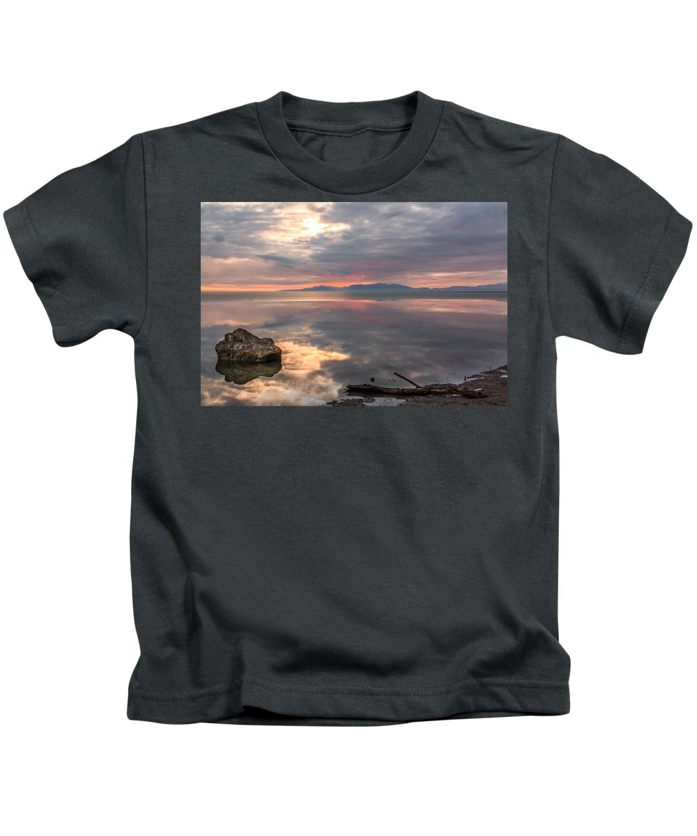 Gigimarie Kids T-Shirt featuring the photograph Willard Bay by Gina Herbert