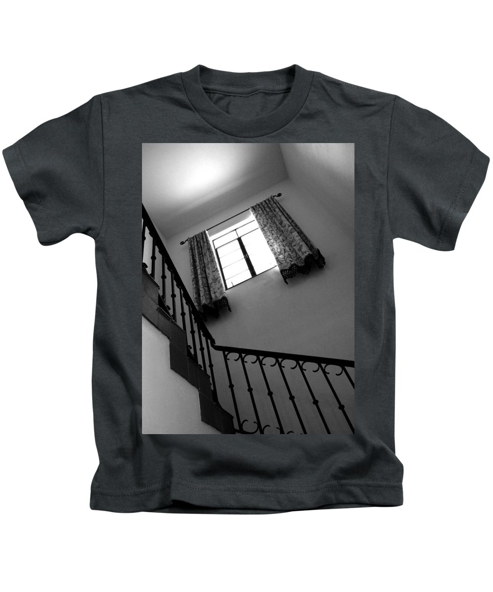 Stairs Kids T-Shirt featuring the photograph Window And Stairs by Joe Kozlowski