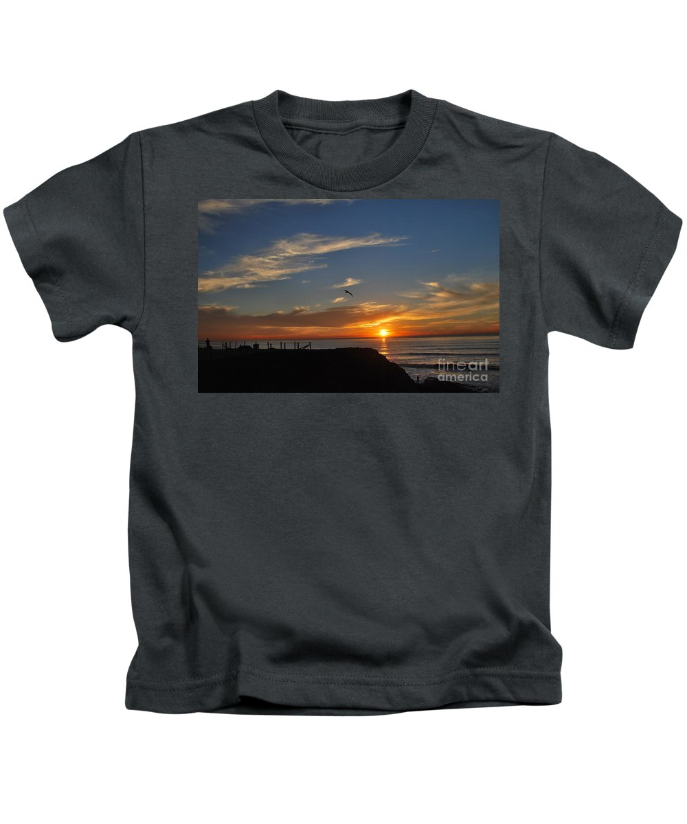 Milton Kids T-Shirt featuring the photograph Wings Of A Bird by Milton Elliott