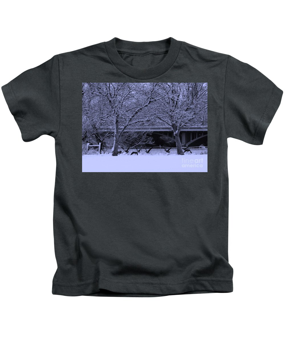 Winter Kids T-Shirt featuring the photograph Winter Geese Retreat by Carol Groenen