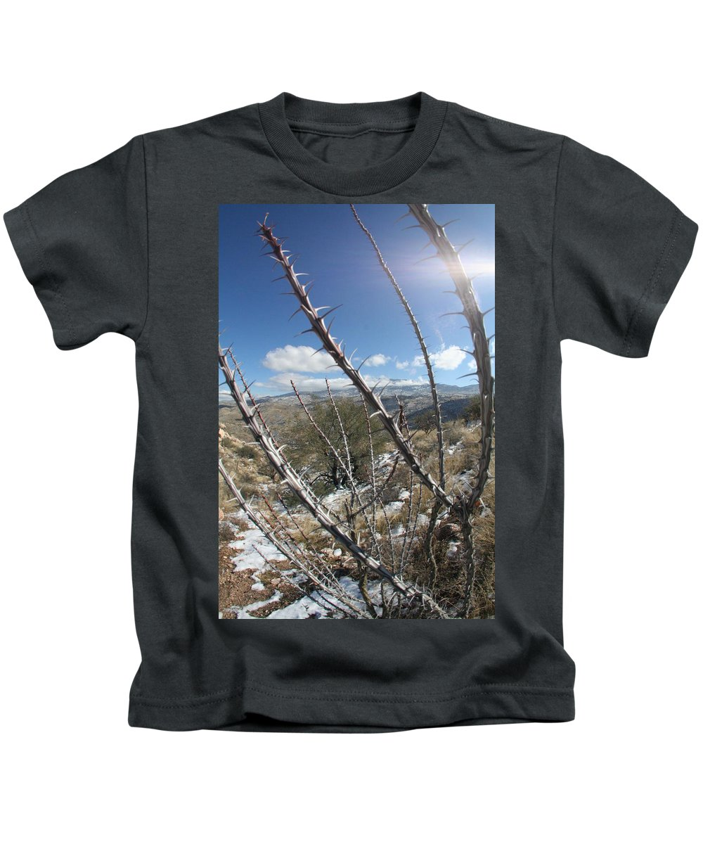 Snow Kids T-Shirt featuring the photograph Winter Thorns by David S Reynolds
