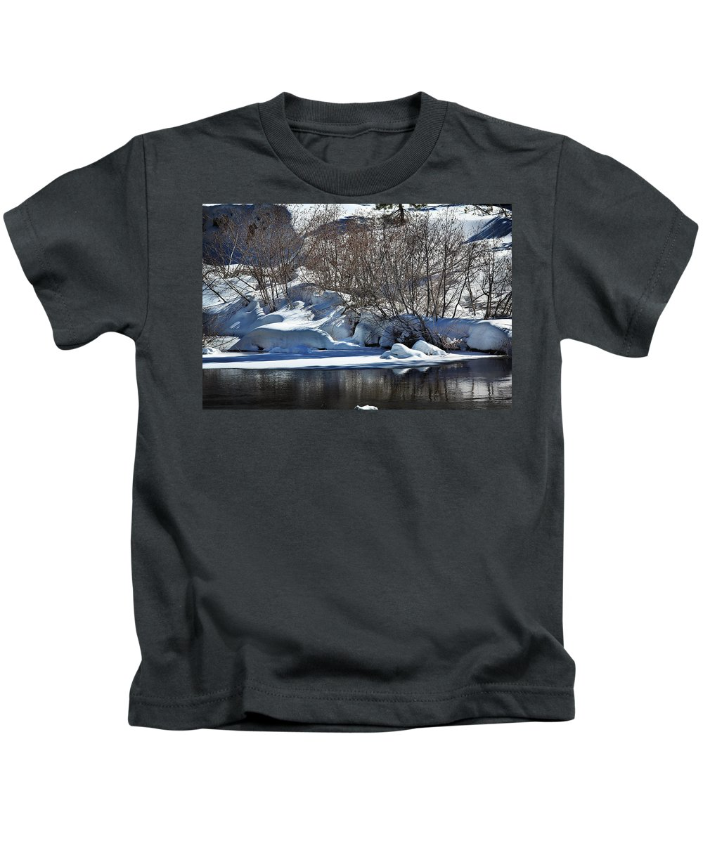 Snow Kids T-Shirt featuring the photograph Winter Wonderland by Shawn McMillan