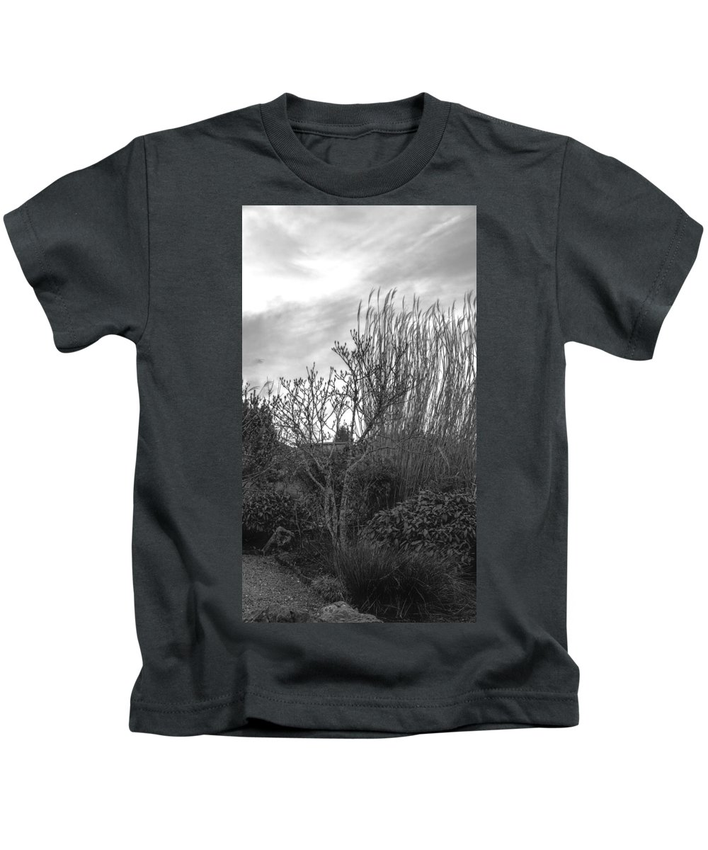 Kids T-Shirt featuring the photograph Winters Garden by Cathy Anderson