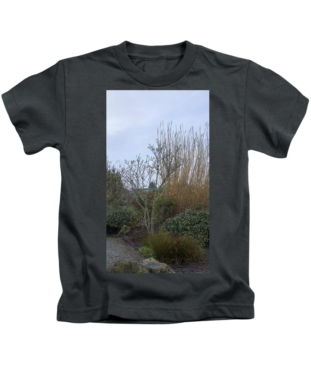 Kids T-Shirt featuring the photograph Winters Garden In Seattle by Cathy Anderson