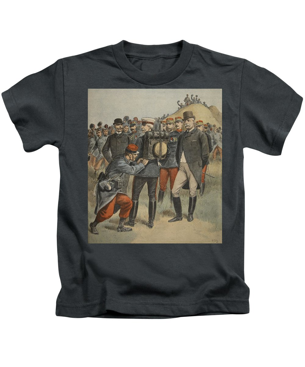 British Royalty Kids T-Shirt featuring the drawing With The Army Manoeuvres The Duke by French School