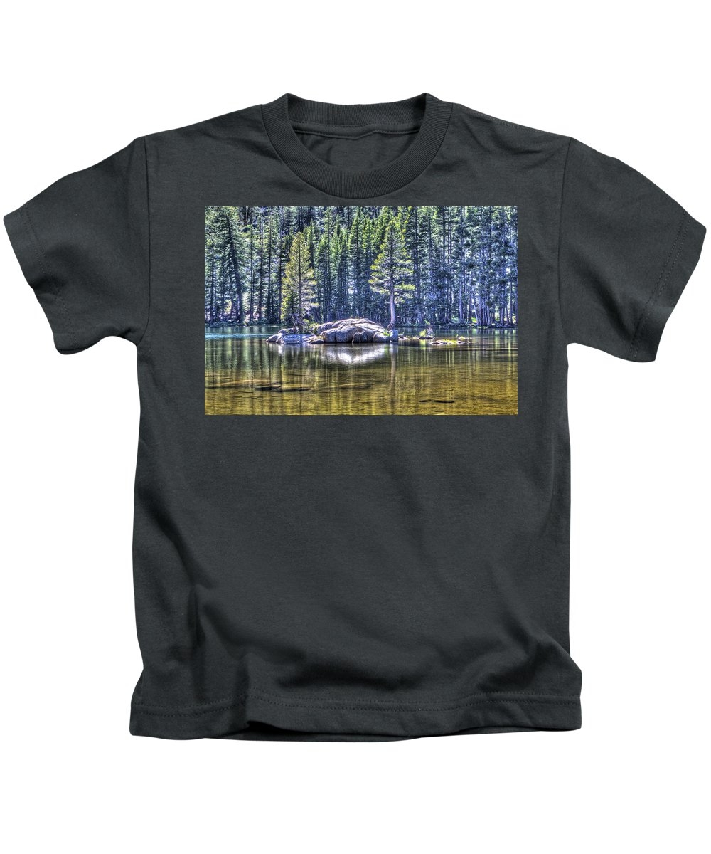 Woods Lake Kids T-Shirt featuring the photograph Woods Lake 1 by SC Heffner