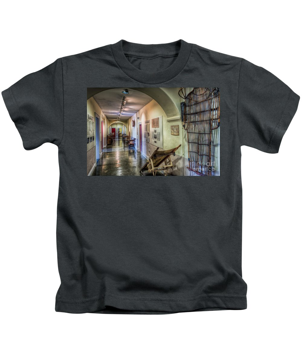 Arch Kids T-Shirt featuring the photograph Woven Stretcher by Adrian Evans