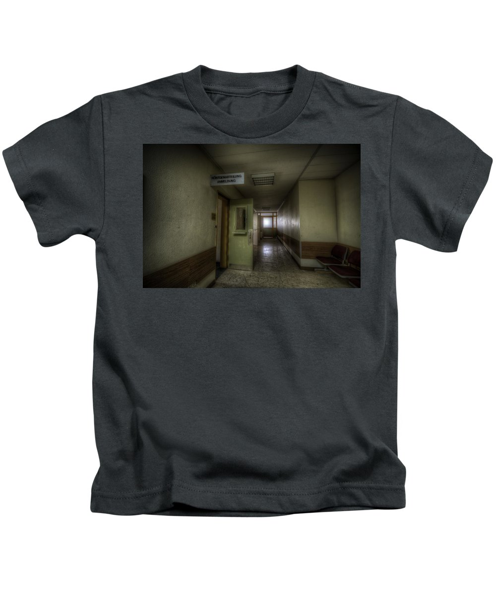 German Kids T-Shirt featuring the digital art X Ray Waiting Room. by Nathan Wright