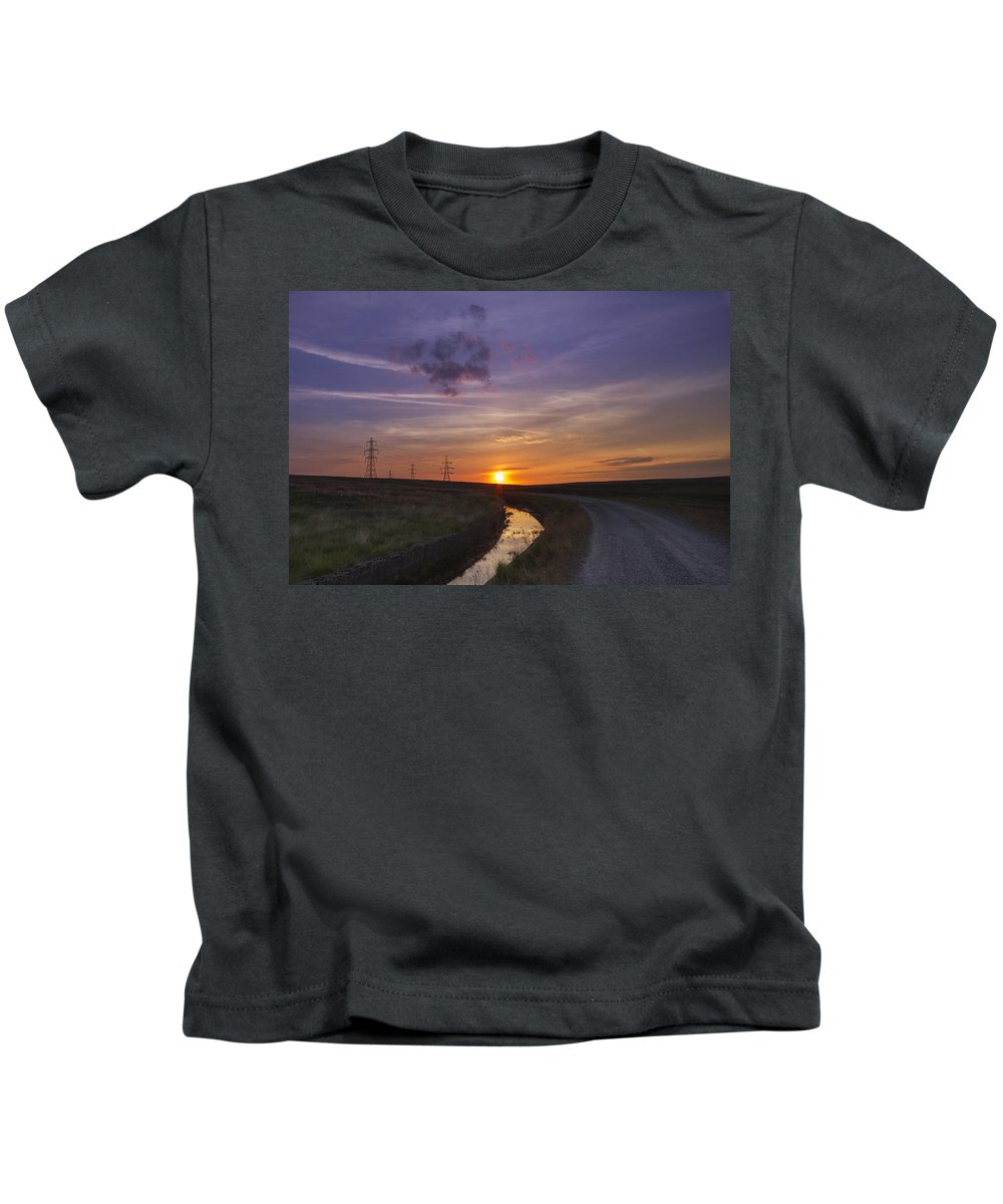Sunset Kids T-Shirt featuring the photograph Yorkshire Sunset by Chris Smith