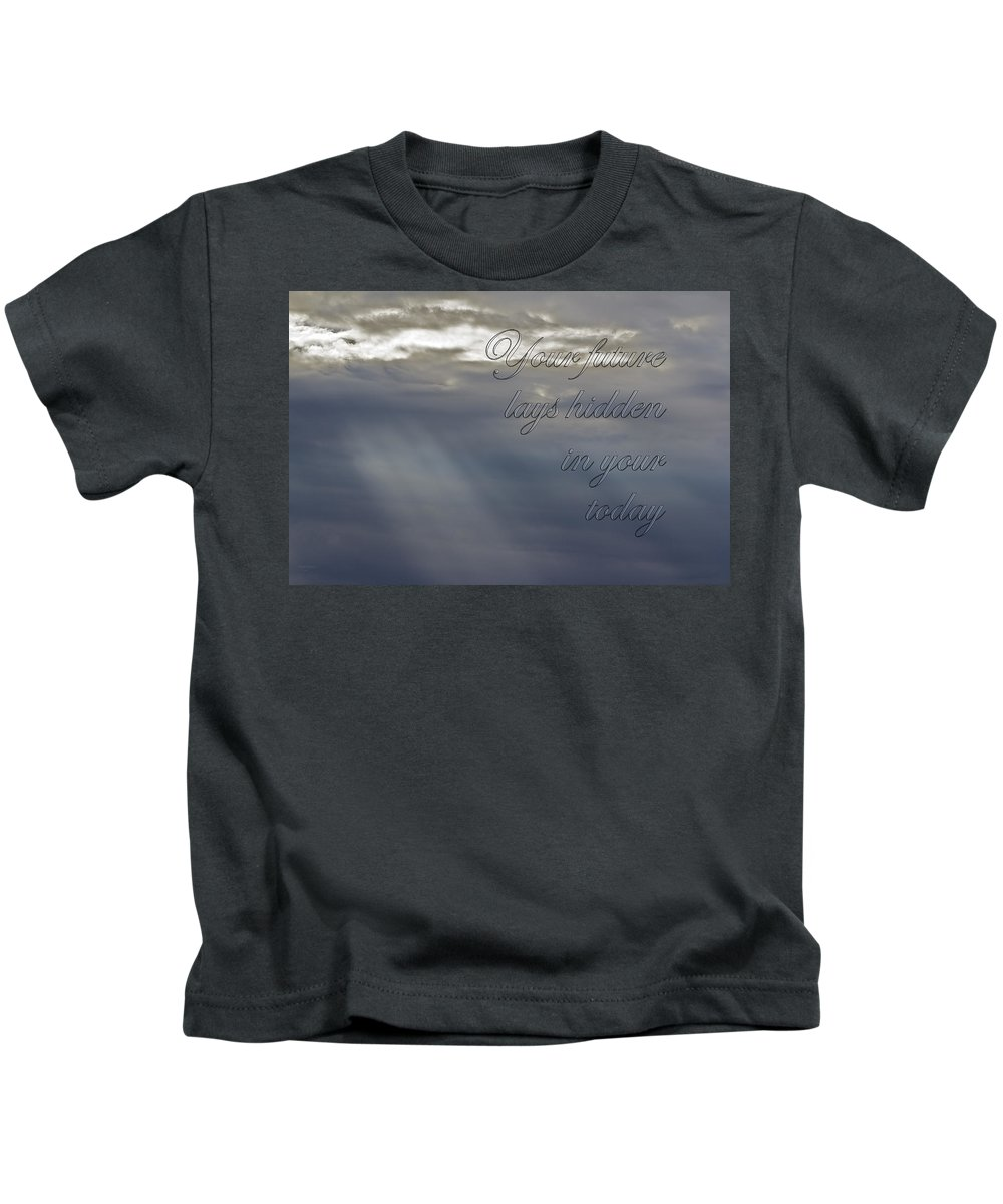 Clouds Kids T-Shirt featuring the photograph Your Future by Phyllis Denton