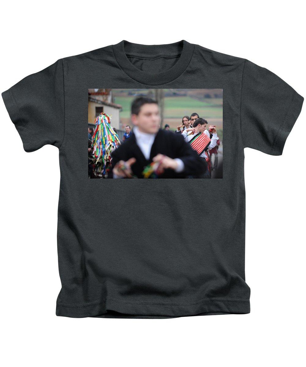 Spain Kids T-Shirt featuring the photograph Zangarron Mascarade 3 by Rafa Rivas