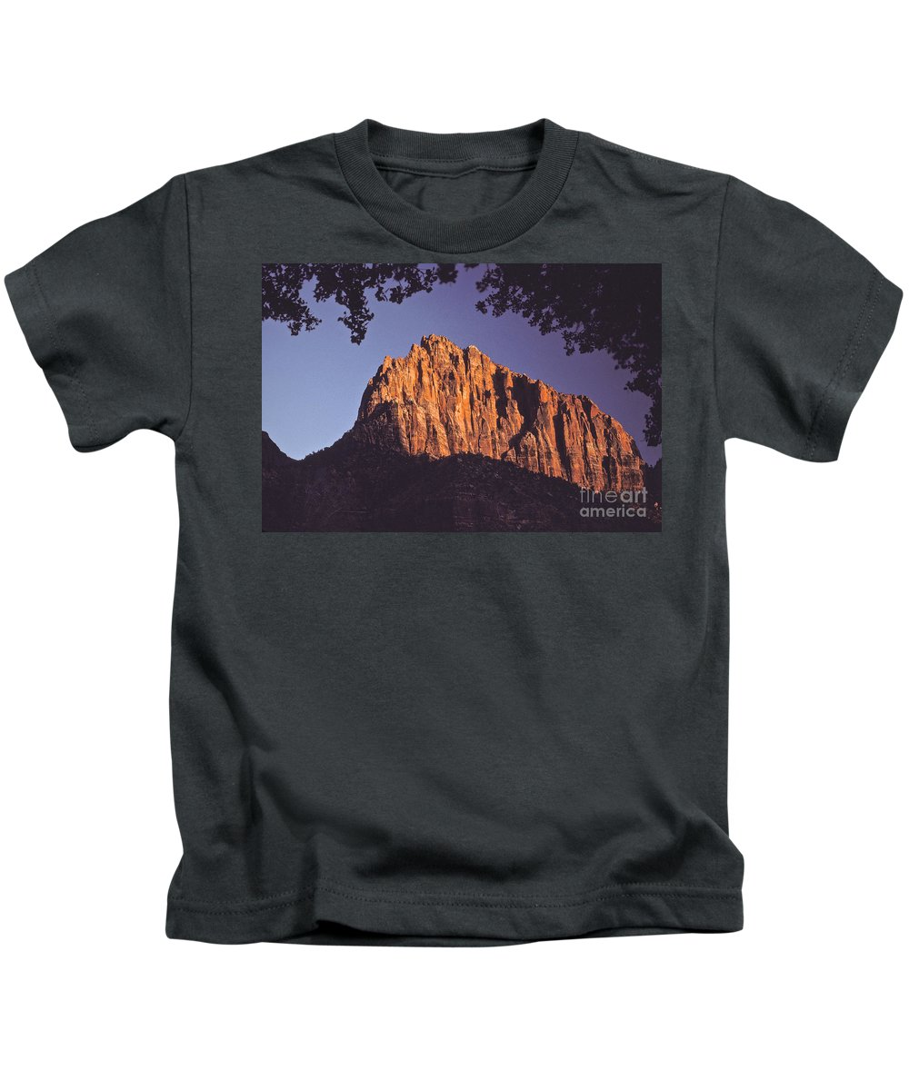 Zion Kids T-Shirt featuring the photograph Zion National Park by Howard Stapleton