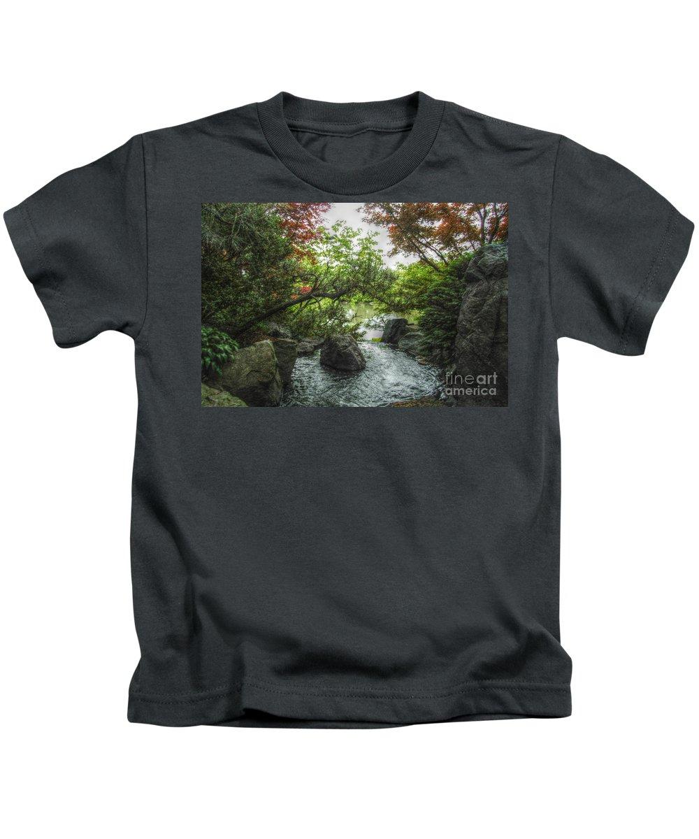 Landscape Kids T-Shirt featuring the photograph  A Mystical Place by Peggy Franz