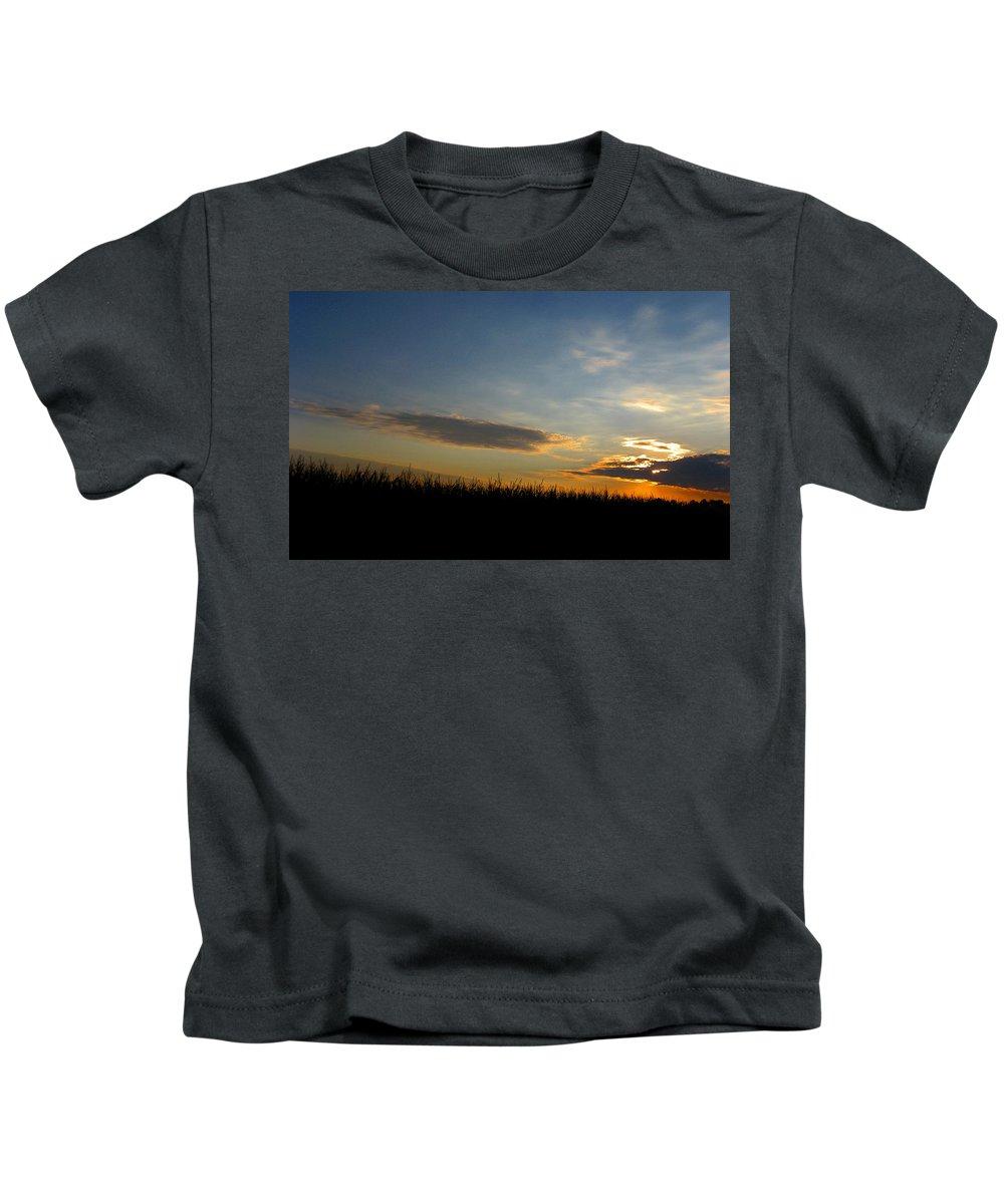 Cornfield Kids T-Shirt featuring the photograph Cornrise by Dan McCafferty