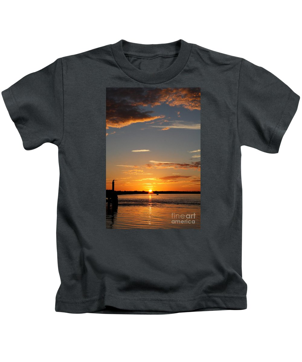Atlantic Coast Kids T-Shirt featuring the photograph Sunset Over The Sea by Christiane Schulze Art And Photography
