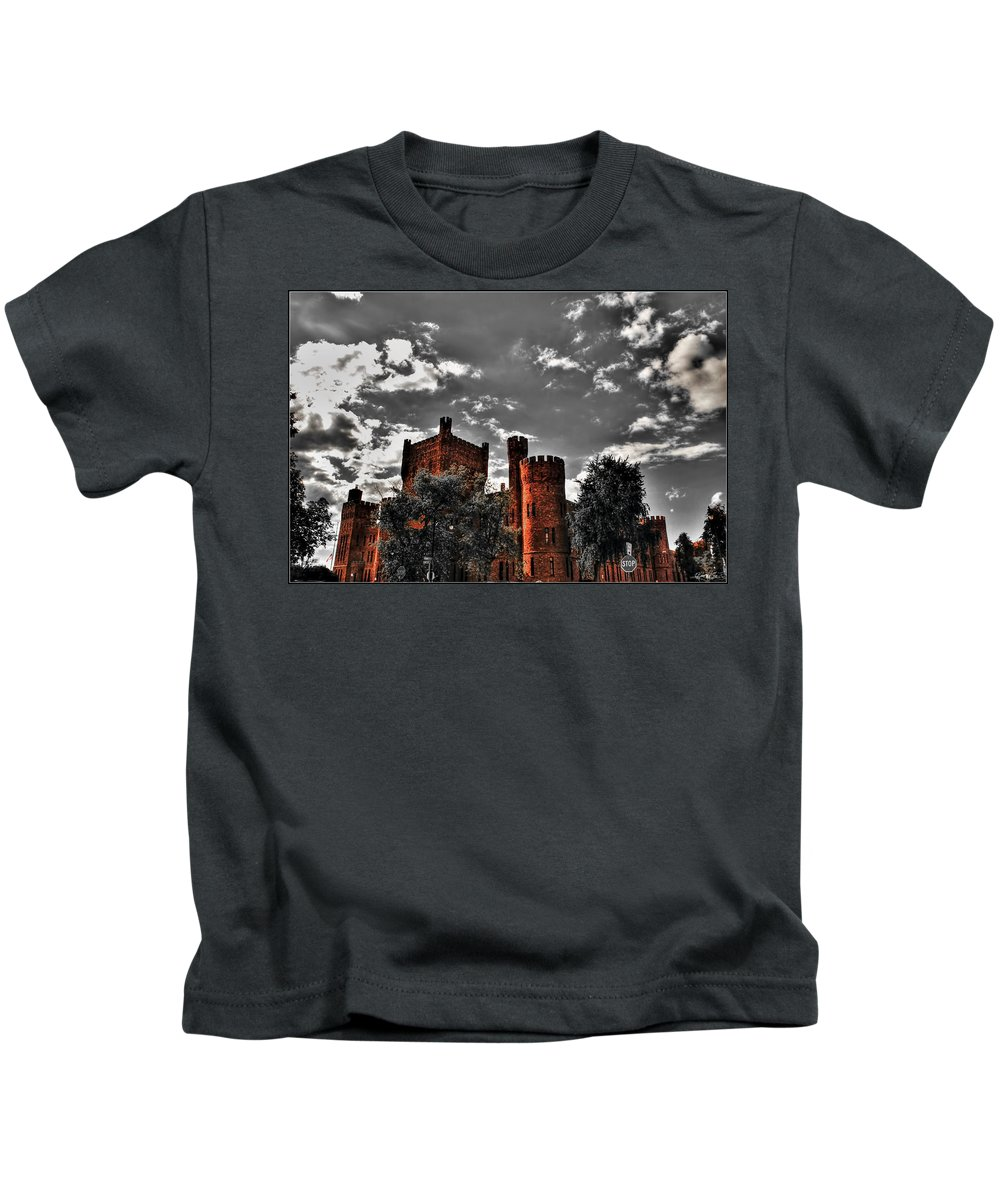 Kids T-Shirt featuring the photograph 008 The 74th Regimental Armory In Buffalo New York by Michael Frank Jr