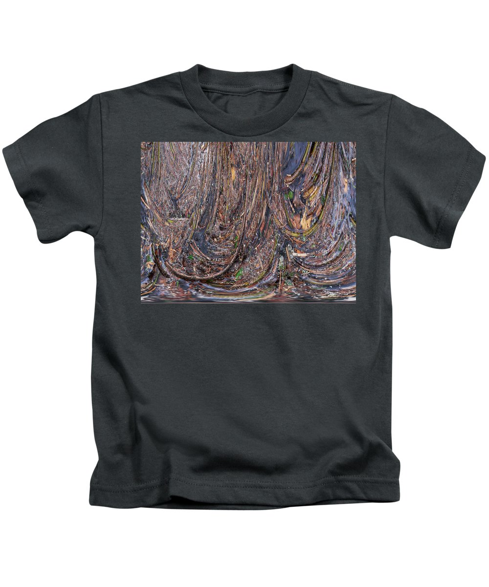 Liesijoki Kids T-Shirt featuring the photograph Abstarct Flood by Jouko Lehto