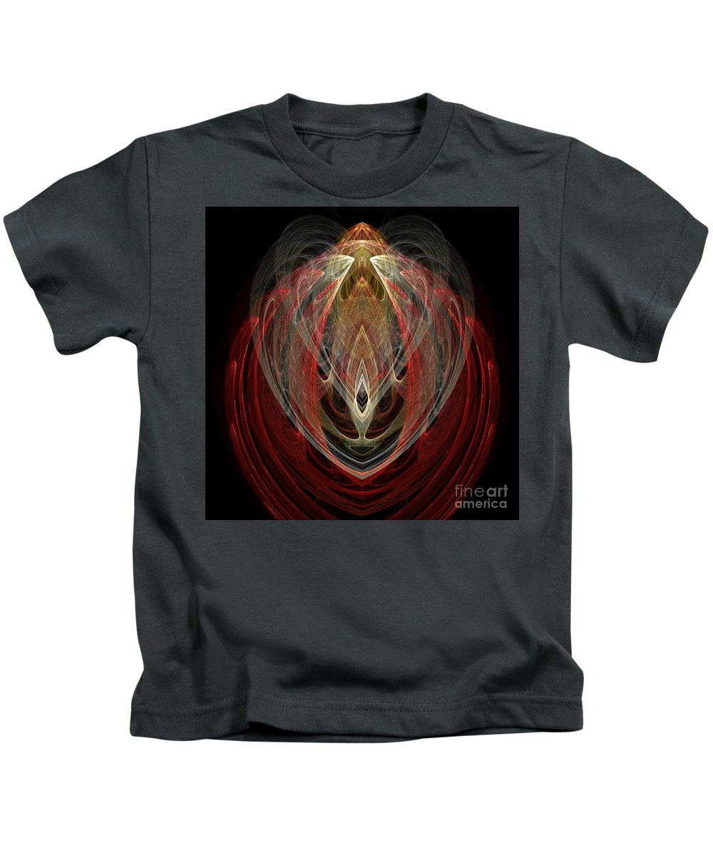 Fractal Digital Art Kids T-Shirt featuring the photograph Abstract Eighty by Mike Nellums