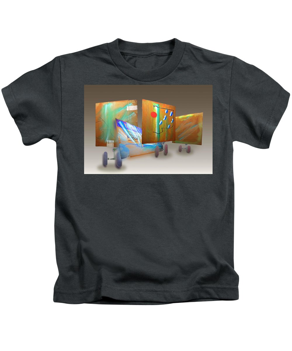 Kimono Kids T-Shirt featuring the painting Aftermath II by Charles Stuart