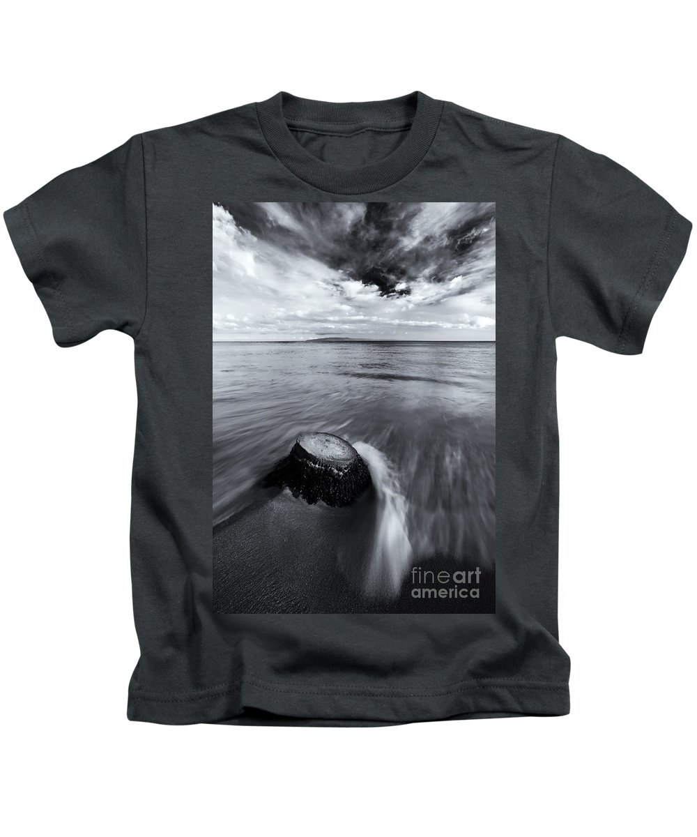 Beach Kids T-Shirt featuring the photograph Against The Tides by Mike Dawson