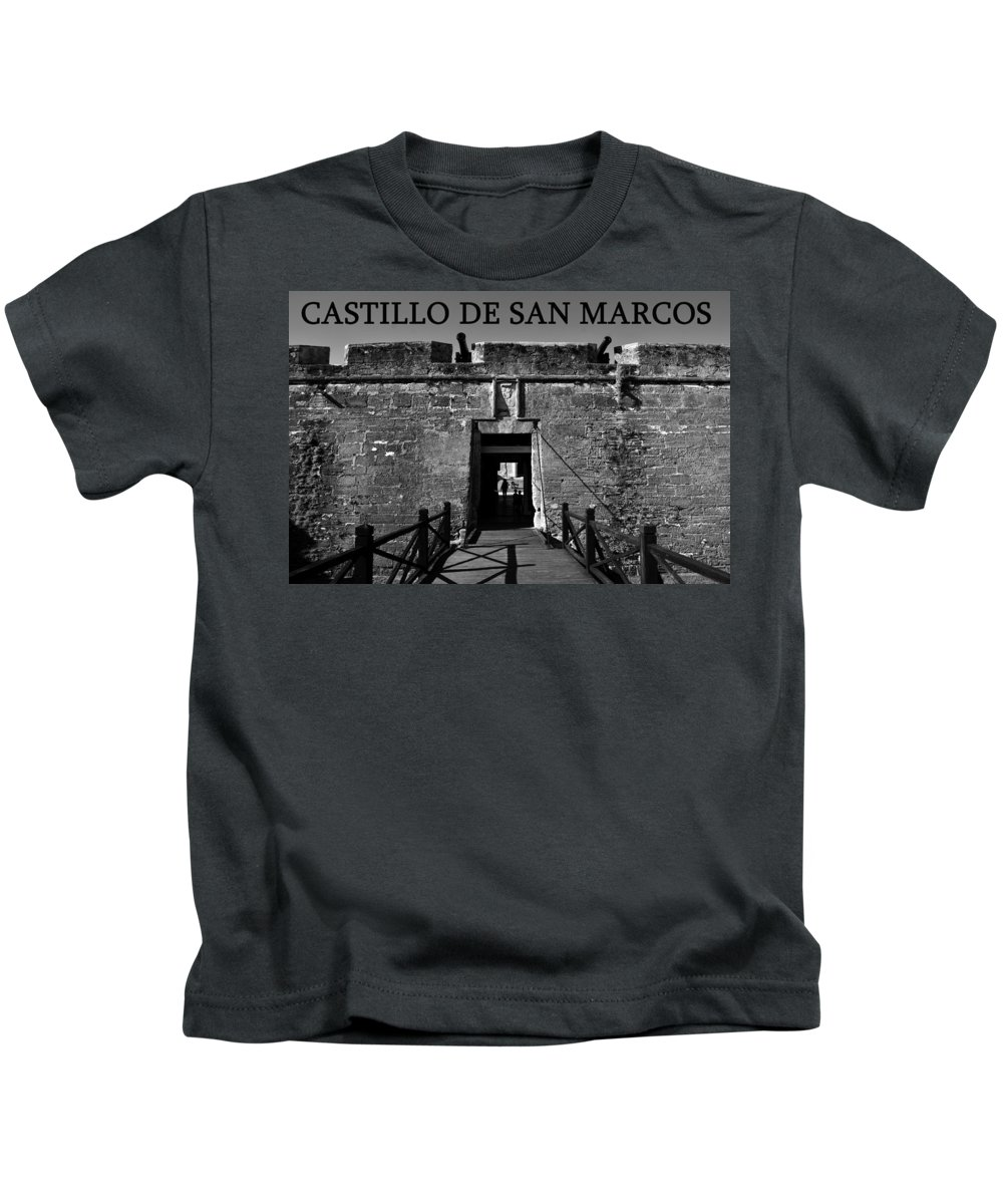 Fine Art Photography Kids T-Shirt featuring the photograph Castillo De San Marcos by David Lee Thompson