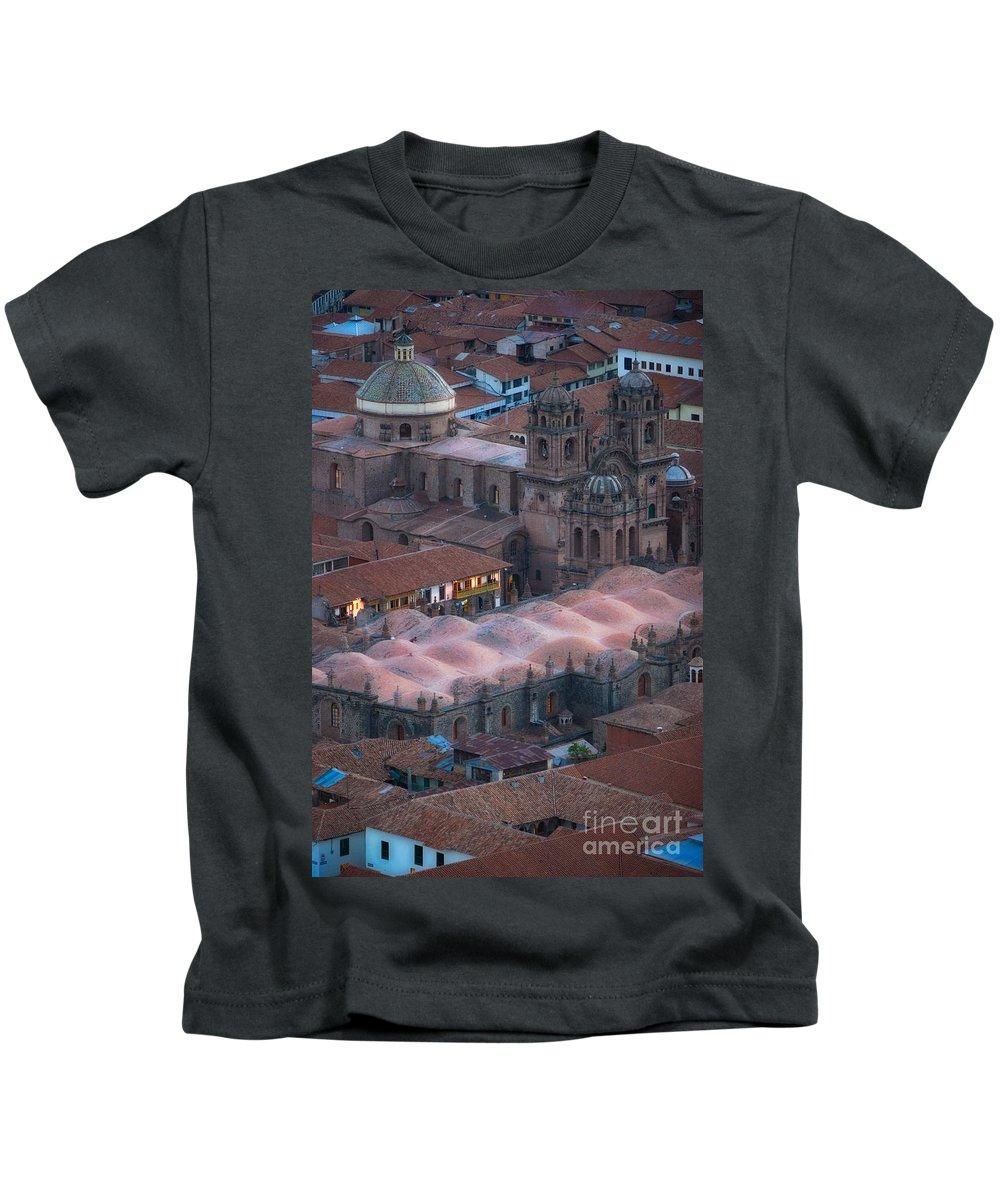 Peru Kids T-Shirt featuring the photograph Cusco by Doug Sturgess