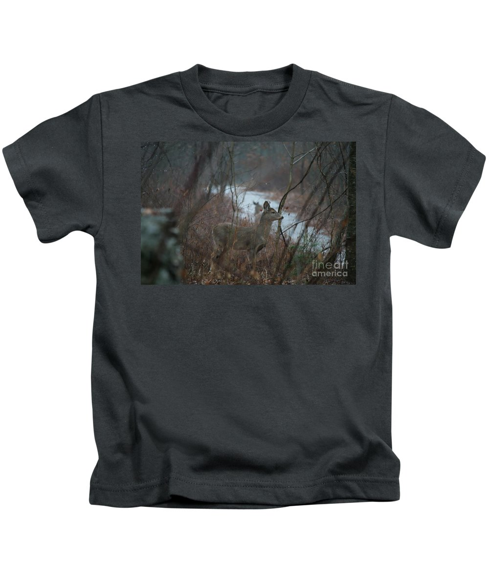 Deer Kids T-Shirt featuring the photograph Deer Portrait by Neal Eslinger