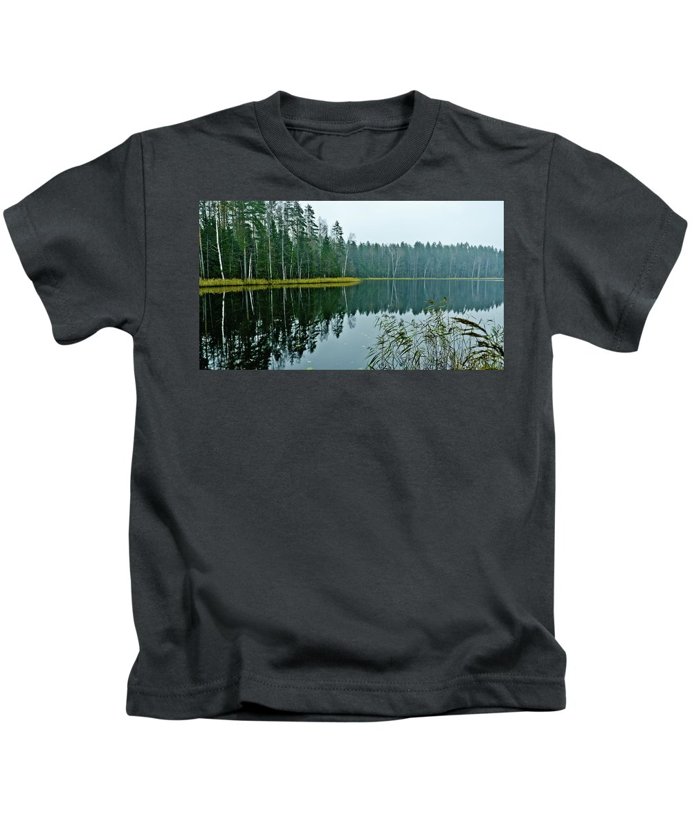 Landscape Kids T-Shirt featuring the photograph Forest Lake by Michael Goyberg