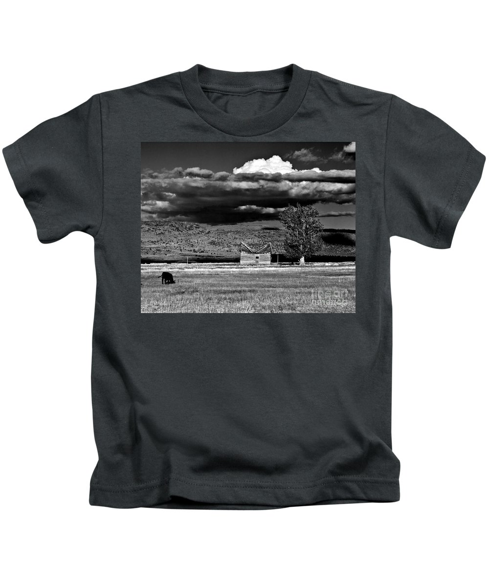 Homestead Kids T-Shirt featuring the photograph Homestead by Merrill Beck