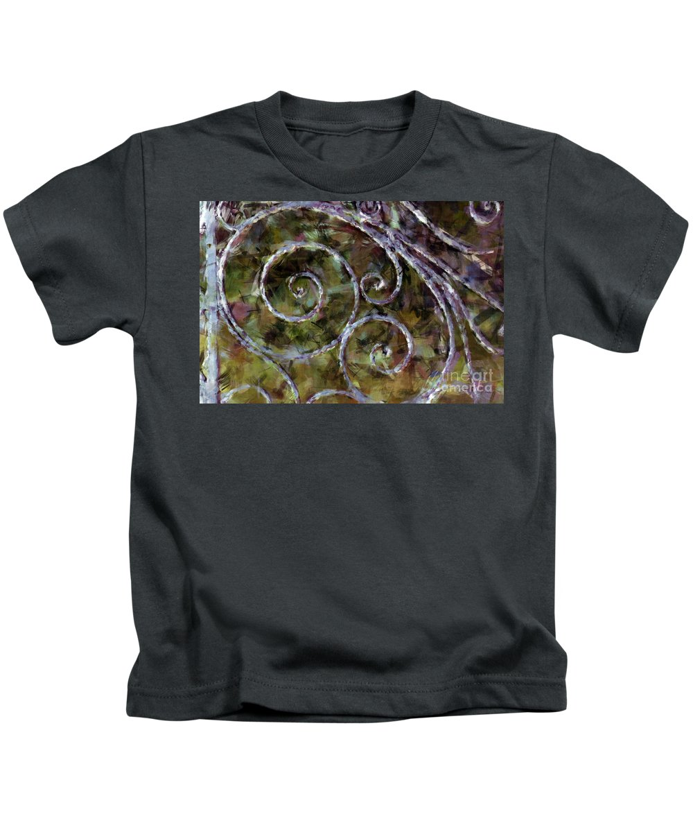Gates Kids T-Shirt featuring the photograph Iron Gate by Donna Bentley