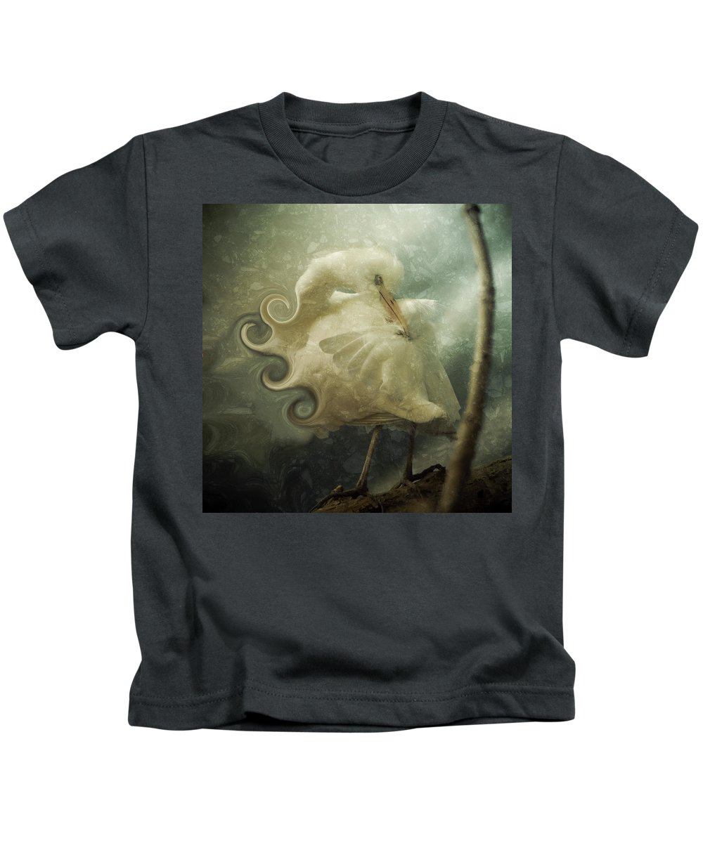 Bird Kids T-Shirt featuring the photograph Lovely Lady by Trish Tritz