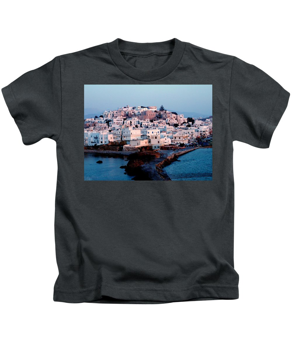 Colette Kids T-Shirt featuring the photograph Naxos Island Greece by Colette V Hera Guggenheim