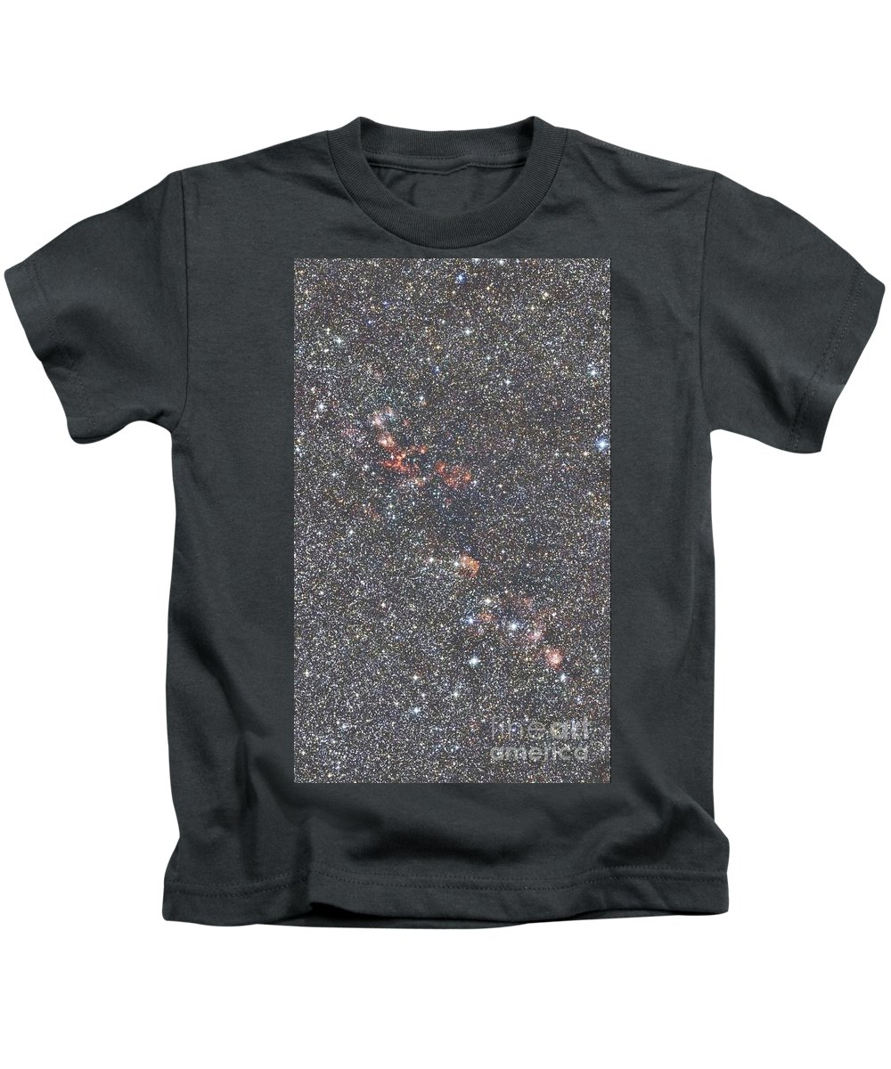 2mass Imagery Kids T-Shirt featuring the photograph Star Forming Regions by 2MASS project / NASA